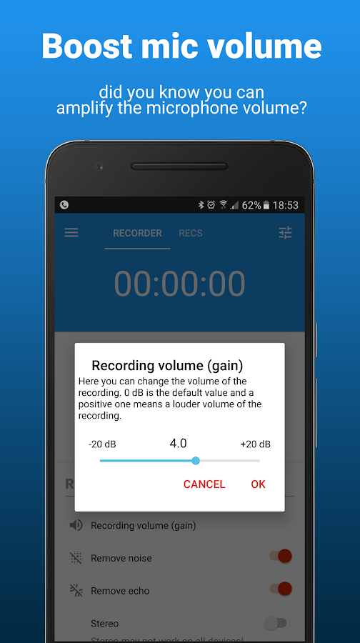 AudioRec Pro - Voice Recorder Screenshot 4