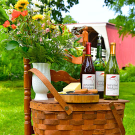 The Picnic Basket by Greg Harrison - Food & Drink Alcohol & Drinks ( iowa wine, the bridges of madison county, iowa vinyards, rattlesnake red, madison county wine )