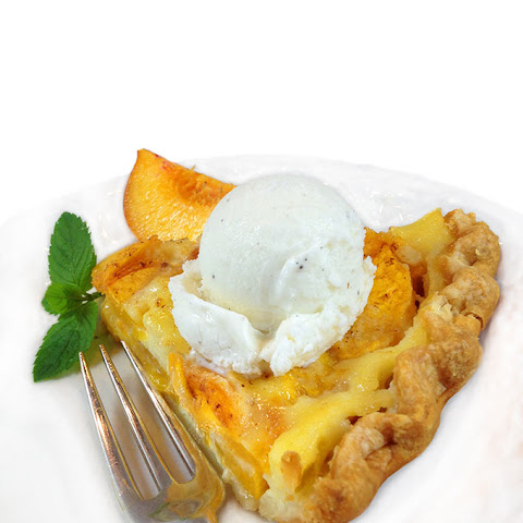 Fresh Peach Custard Pie