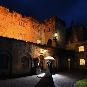 Brolly Castle by Bearded Egg - Wedding Bride & Groom ( wedding, castle, marriage, ceremony, bride, groom )