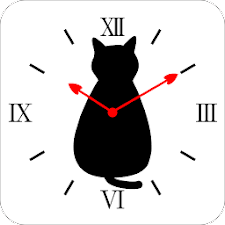 Cat silhouette Clock2R