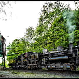 Water Tower by James Eickman - Transportation Trains