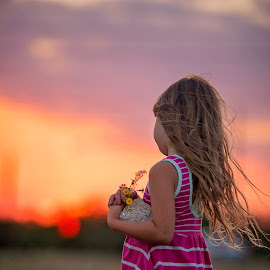 As the sun sets by Stephanie Espinoza - Babies & Children Children Candids