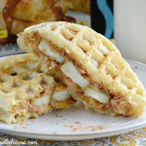 Peanut Butter Apple Waffle Sandwiches