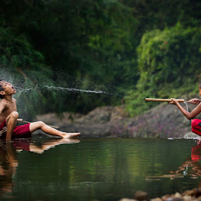 by Nicholas Wibowo - Babies & Children Children Candids ( kids playing in summer )