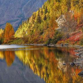 Jerome Lake by Patricia Phillips - Landscapes Travel ( autumn, lakes alaska jerome )