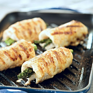 Grilled Marinated Chicken Asparagus Rolls