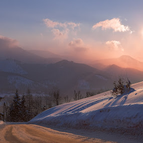 Sunset in Tatra mountains by Wojciech Toman - Landscapes Mountains & Hills