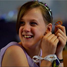 Rebecca bridesmaid by Nic Scott - Wedding Other ( laughing, girl, wedding, teenager, bridesmaid, smiles,  )