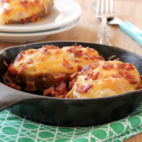 Twice Baked Potatoes With Cheese And Bacon