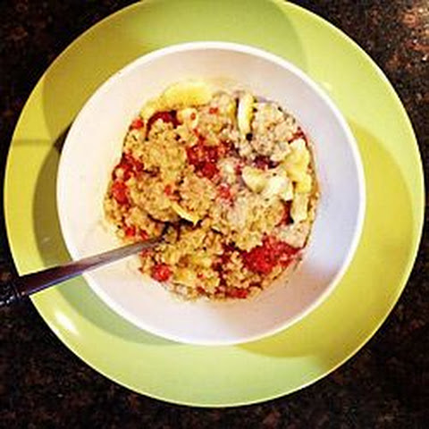 Banana-Raspberry Oatmeal