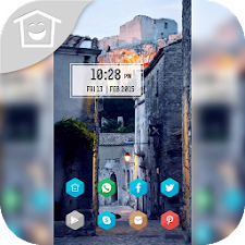 Quaint street aesthetic theme