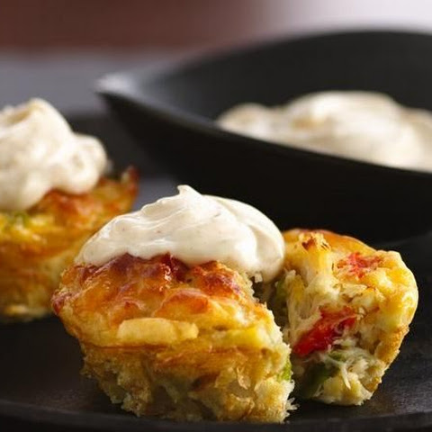 Impossibly Easy Mini Crab Cake Pies