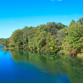 by Kimberly Sharp - Landscapes Waterscapes ( novice, nature, beautifull, fall, maryland, blue water, lake )