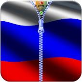 Russia Flag Zipper Lock App APK for Bluestacks