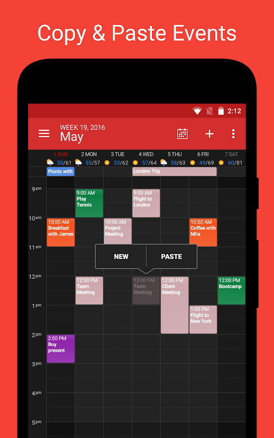 DigiCal Calendar Agenda Screenshot 2
