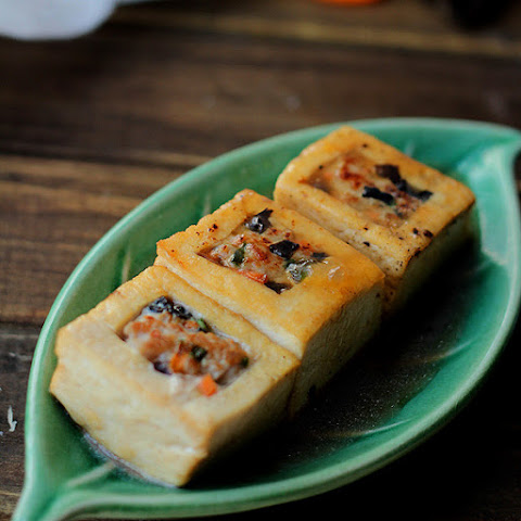 Braised Chinese Stuffed Tofu