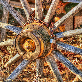 Inner Wheel by D.M. Russ - Artistic Objects Other Objects ( wheel, center wheel, art, wagon wheel, artistic, old wheel, photography, d.m. russ )