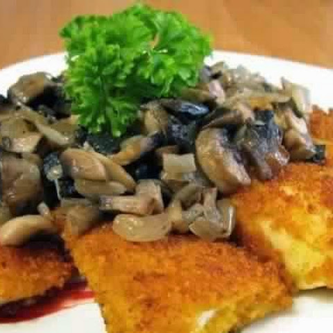 Fried Fish With Mushrooms