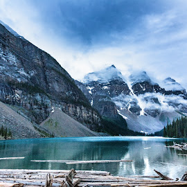Moraine Lake Blues by Monte Arnold - Landscapes Travel ( lake louise, sentimental, alberta, canada, beautiful, lake, travel, landscape, photo, amazing, getoutthere, get out there, banff national park, canadian, nostalgia, memories )