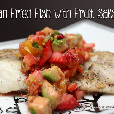 Pan Fried Fish with Fruit Salsa