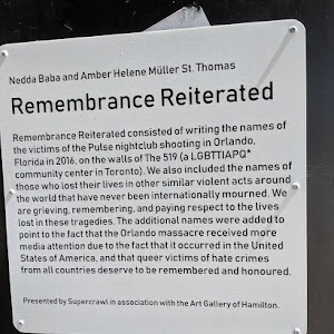 Nedda Baba and Amber Helene Müller St. Thomas Remembrance Reiterated Remembrance Reiterated consisted of writing the names of the victims of the Pulse nightclub shooting in Orlando, Florida in 2016. ...