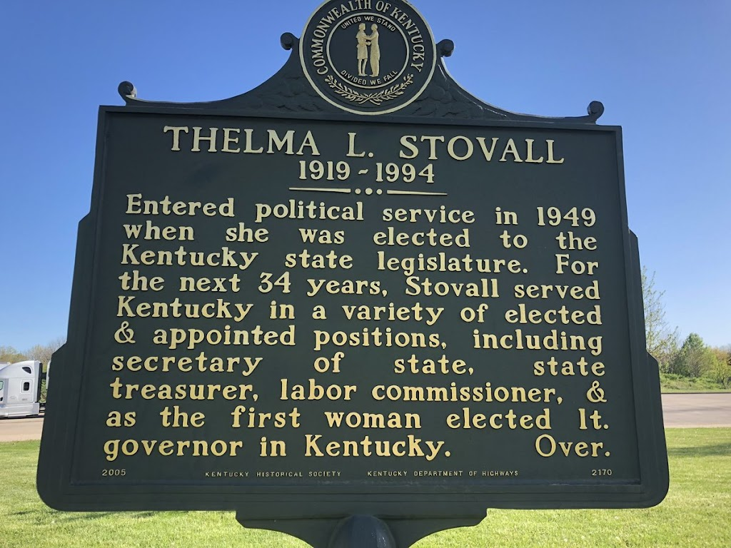 THELMA L. STOVALL 1919 - 1994 Entered political service in 1949 when she was elected to the Kentucky state legislature. For the next 34 years, Stovall served Kentucky in a variety of elected & ...