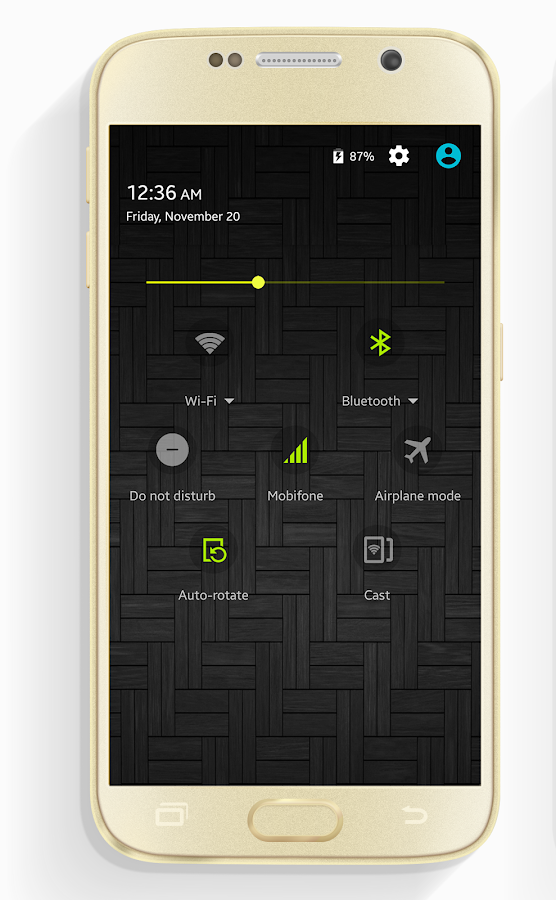 CM12.x/CM13 Galaxy Dark Screenshot 1