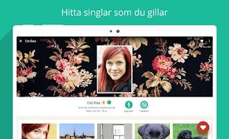 Screenshot of Mötesplatsen - dejta singlar