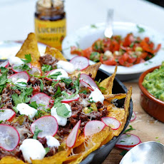Chilli Beef Nachos with Guacamole and Salsa