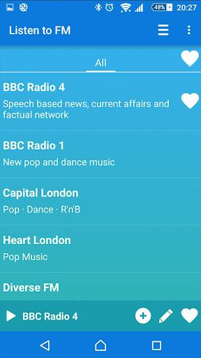 Internet radio Listen to FM - screenshot
