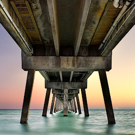 Okaloosa Island Pier by Shawn Thomas - Buildings & Architecture Bridges & Suspended Structures