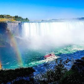 Niagara Falls by Natasha Lena - Landscapes Waterscapes ( canada, niagara falls, green, waterfall, ontario )