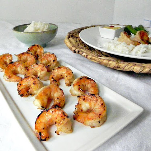 Grilled Coconut Honey Lime Shrimp