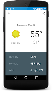 Cary, North California weather - screenshot