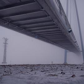 Bridge in the fog by Michal Fokt - Buildings & Architecture Bridges & Suspended Structures ( fog, bridge )