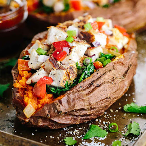 Stuffed Sweet Potato with Barbecue Chicken