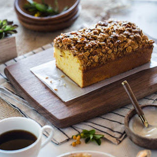 Orange Polenta Cake with Almond & Oat Streusel