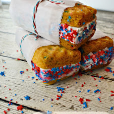 Birthday Cake Funfetti Ice Cream Sandwiches