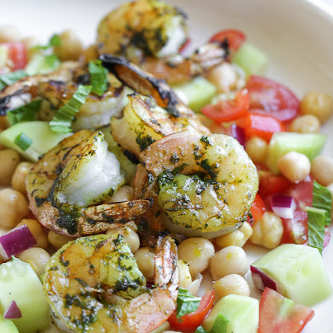 North African Spiced Shrimp and Chickpea Salad