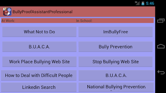 Bully Proof Assistant For All - screenshot