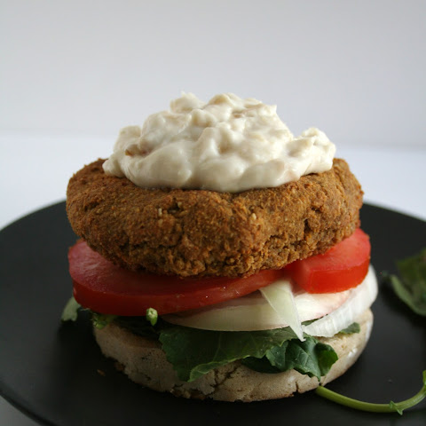 Lentil Burgers with Roasted Garlic Mayo