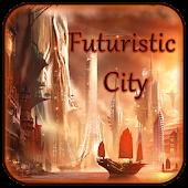 Download Golden Futuristic City Theme APK on PC