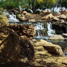 Waterfall by Toni Krekelberg - City,  Street & Park  City Parks ( waterfalls, park, waterscape, parks, waterfall )