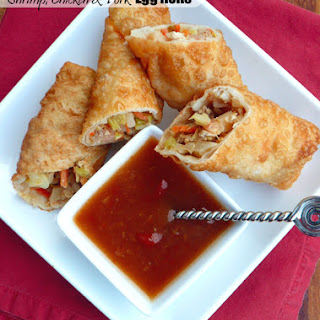 Pork, Shrimp & Chicken Egg Rolls