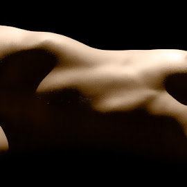 Bodyscape by Serendipity Memories - Nudes & Boudoir Artistic Nude ( contrast, nude, shadow, naked, bodyscape, light )