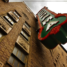B'ama Theater by Olga Charny - Buildings & Architecture Public & Historical ( birmingham, green, alabama, theater, sign )