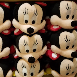 Rows of Minnie Slippers by Ruth Sano - Artistic Objects Clothing & Accessories ( minnie, slippers, disney, accessories,  )