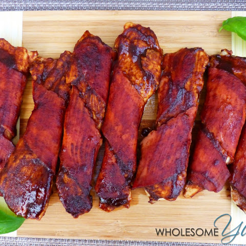 Turkey Bacon Wrapped BBQ Chicken Tenders (Paleo, Gluten-Free)