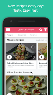 Low Carb Recipes & Diet-Meal-Plan for weight loss Fitness app screenshot for Android